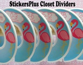 6 Baby Closet Dividers Organizers Assembled or DIY PreCut Pink Blue Flamingo Bird Girl Baby Shower Gift Nursery Decor Clothes Organizer