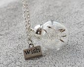 1PCS 20mm Dandelion seed Pendant with chain Dandelion Necklace  Make A Wish   Christmas Thanksgiving Valentine's Day necklace
