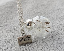 1PCS 20mm Dandelion seed Pendant with chain Dandelion Seed Necklace  Make A Wish   Christmas Thanksgiving Valentine's Day necklace