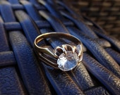 Gold Ring, 9ct Ring, Fully Hallmarked Gold Ring, Gold Clawset Cubic Zirconia,For someone special
