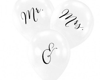 Mr. & Mrs. Balloons wedding reception bridal shower engagement party
