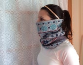 Holiday sweater winter, Running Scarf, cowl, gator, Ski Mask