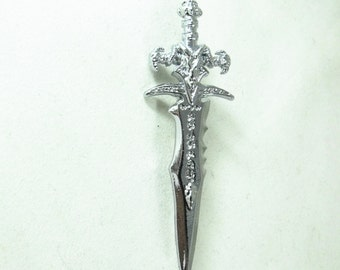 Lapel Pin Or Brooch Pin,   SIlver Gothic Sword   Mens Womens Gift  Handmade