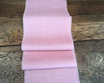 Pink Burlap Table Runner Light Pink Table Runner Blush Pink Wedding Decor Baby Girl Shower Decoration Burlap Tablecloth Nursery Decor