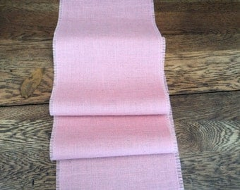 Pink Burlap Table Runner Light Pink Table Runner Blush Pink Wedding Decor Baby Girl Shower Decoration Burlap Tablecloth Nursery Decor