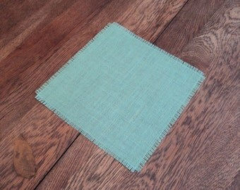 Colored Burlap Table Squares Wedding Table Toppers Burlap Overlays