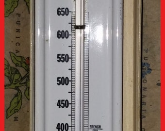 Thermometer Vintage Metal Chaney Tru-Temp for Candy Fat Frying Original Box Recipes Kitchen Gadgets