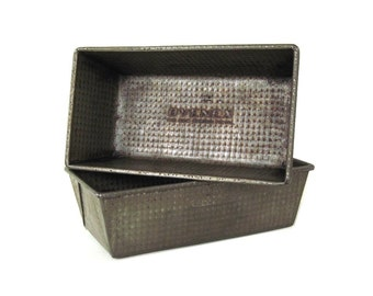 Ovenex Bread Loaf Pans Folded Rectangle Ekco No. 7 Waffle Envelope Fold Food Photography Prop