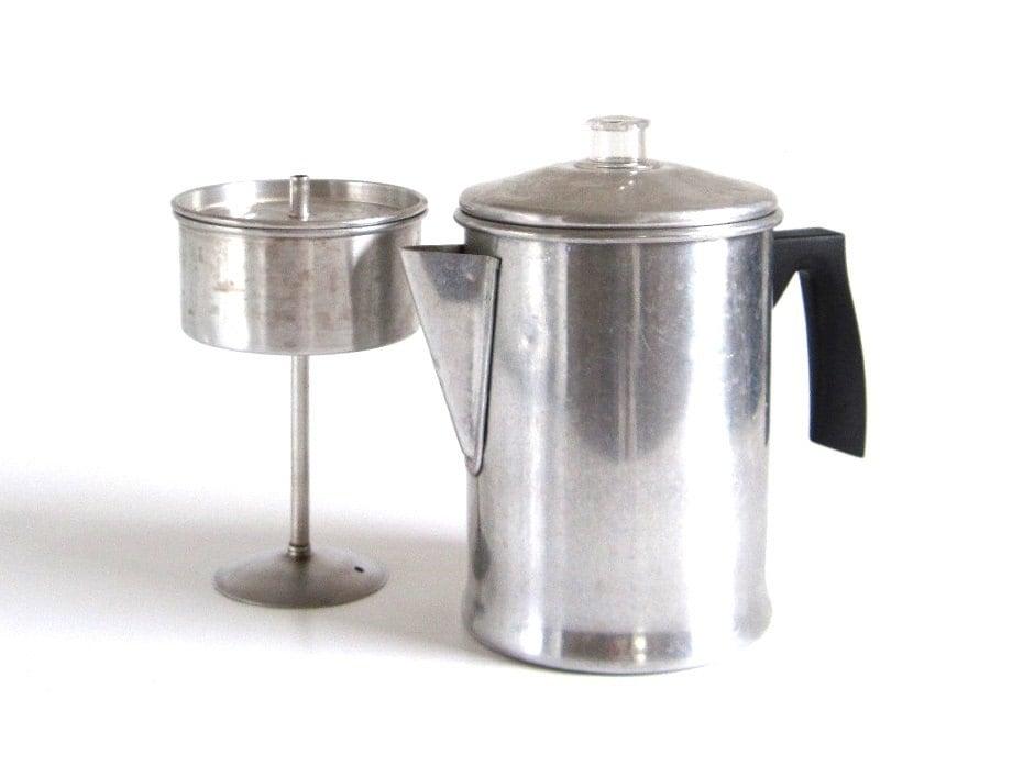 Mirro Percolator Coffee Maker : Mirro Stovetop Percolator Vintage Aluminum Complete Coffee