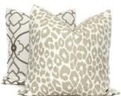 Schumacher Iconic Leopard in Linen Decorative Pillow Cover, 20x20 22x22 Eurosham, Lumbar pillow Toss Pillow, Accent Pillow, Throw Pillow