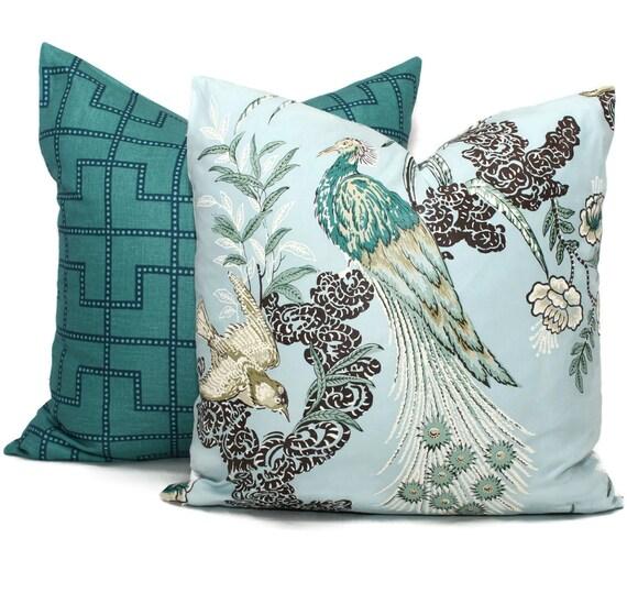 Yellow Throw Pillows At Kohls : Pillow Cover in Miles Redd Peacock Square Eurosham or Lumbar