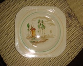 Art Deco Wood & Sons England Wroxham Salad Dinner Plate