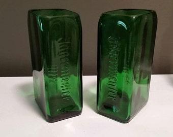 Pair of Jagermeister bottle glasses (2)