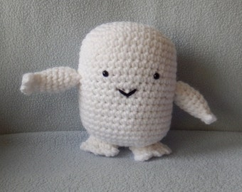 Made to order, Hand crocheted Dr. Who Doll like Adipose Amigurumi Doll