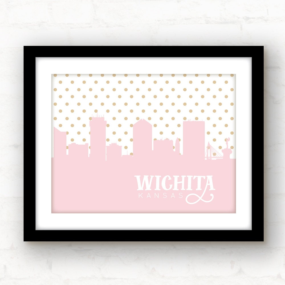 Wichita print wichita kansas wichita art by paperfinchdesign for Craft stores wichita ks