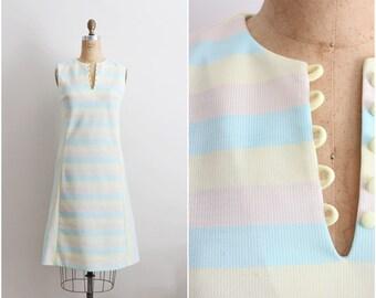 60s Dress / Rainbow Dress / 1960s Dress / Mod Dress / Size S/M