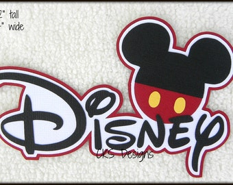 Die Cut Disney Title Vacation Premade Paper Piecing Embellishment for Card Making Scrapbook or Paper Crafts