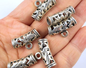 6pcs-silver alloy Bail for pendant or any drops, nickel free