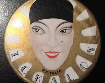 French Art Deco TOKALON powder box-Greek- with advertising brochure-unused