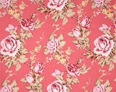 78080 - Free Spirit Verna Mosquera Rustic Blush collection - Antique rose in Berry  color- 1 yard