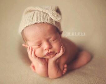 PDF KNITTING PATTERN / The Noah Night Cap / infant newborn toddler child sizes / organic baby cap pattern