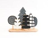 Miniature Woodland 03 - Forest Trees Wood Monochrome