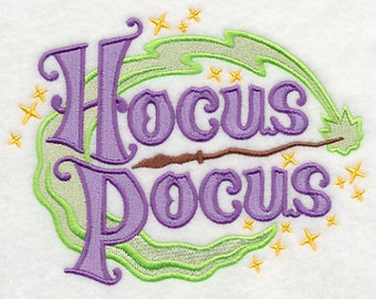 Hocus Pocus Witch Embroidered Flour Sack Hand/Dish Towel