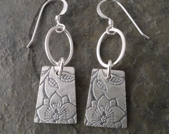 Indra Double Earrings ~ Clematis/Posey