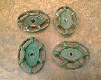 Vintage faucet handles - altered art - industrial art - steampunk art - faucet knob lot - spigot knob handle - drawer handles - drawer pull