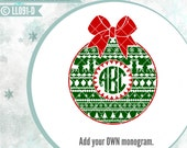 Aztec Round Christmas Ornament Bow LL091 D - SVG - Vector - Cutting File - ai, eps, svg (Cricut), dxf (for Silhouette users), jpg, png