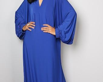 Blue Dress - Maxi Dress - Funky Royal Blue Dress: Funky Elegant Collection no.2s