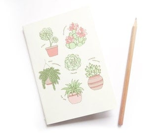 SALE Succulents A6 Notebook