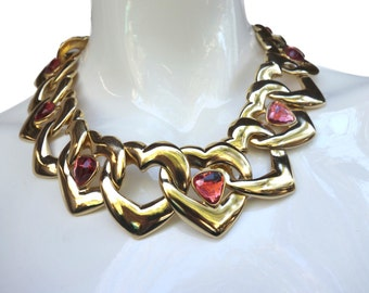 YSL Goossens Couture Heart Necklace France