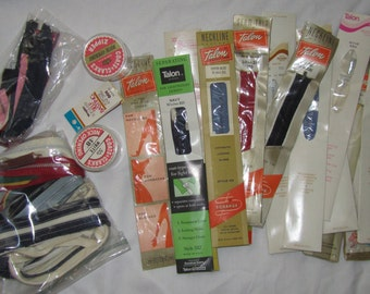 Lot of Vintage Zippers New Old Stock In Original Sealed Packages and Some Loose