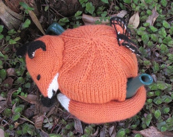 Fox Tea Cosy KNITTING PATTERN – pdf file by automatic download