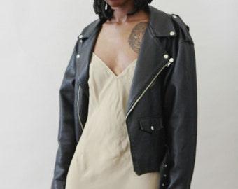 Vintage Black  Biker Jacket