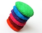 Rainbow Egg Shaped Bean Bags Easter Purple Blue Green Children's Toy Toss Game Party Rice-filled (set of 6) - US Shipping Included