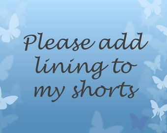 Add Lining to Your Shorts