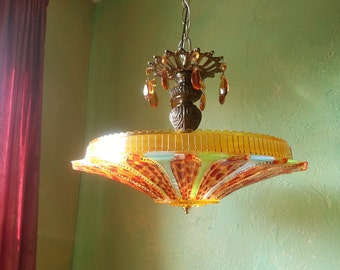 Gypsy Art Deco Semi Flush Lighting, One of a Kind, Layaway Available