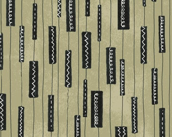 SALE - Flirt - Stone Geometric Stripe by Another Point of View from Windham Fabrics