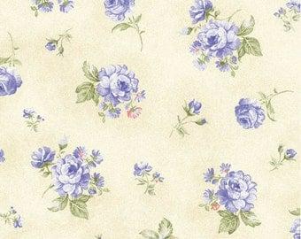 Ellie Ann - Blue Petit Rose from Benartex