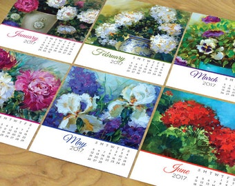 2017 desk calendar, Nancy Medina desk calendar, 2017 floral desk calendar, office desk calendar, florals by Nancy Medina desk calendar
