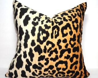 IN STOCK Braemore Jamil Velvet Cheetah Animal Print Pillow Cover Velvet Black & Tan Pillow Cover Leopard Print Choose Size