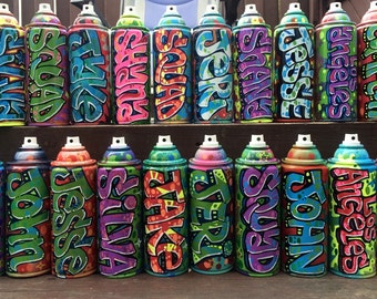 15 personalized graffiti spray paint cans at whole sale price!