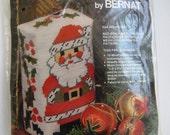 SALE - Christmas Doorstop or Bookend Needlepoint Craft Kit by Bernat - Kris Kringle W03051 - Unopened DIY Holiday Craft Kit - Gift