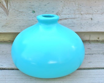 Turquoise Modern Ceramic Vase Bright Home Decor