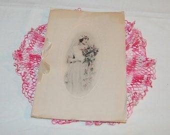 Victorian Wedding Booklet Bridal Memories Unused Antique Journal Beautiful Gift