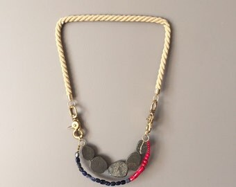 Nautic Necklace Rope New Textile