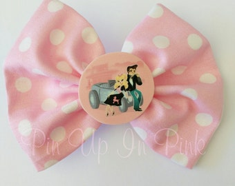 Rockabilly Sweetheart Hair Bow