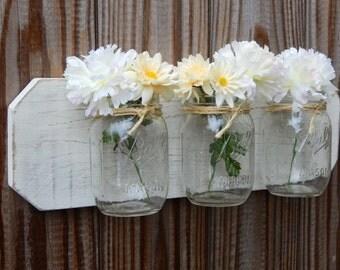 mason jar decor. Wall decor. Home accents. Rustic wood,HouseWarming gift